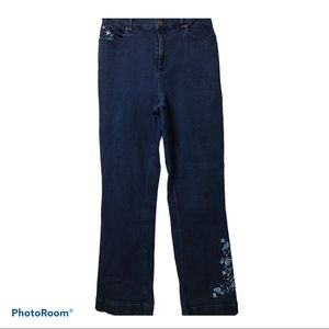 Embroidered d&co jeans
